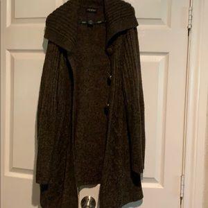 Lane bryant big collar cable knit midi sweater